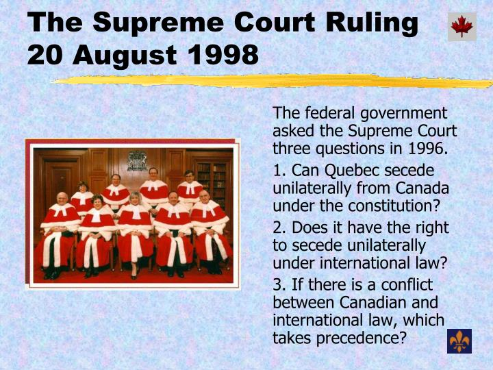 The Supreme Court Ruling