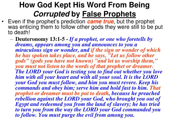 How God Kept His Word From Being