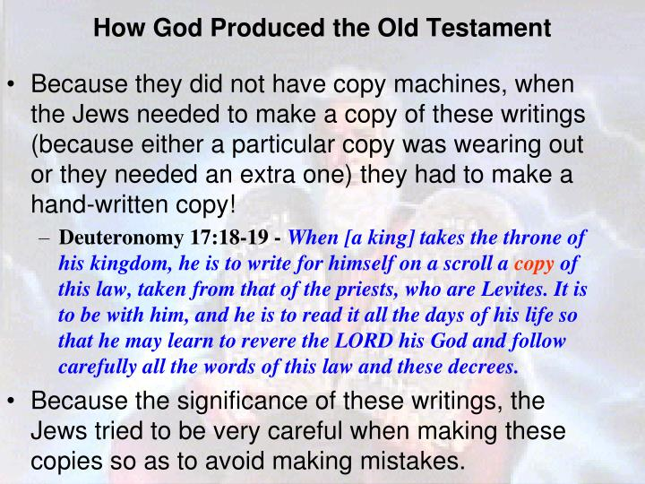 How God Produced the Old Testament