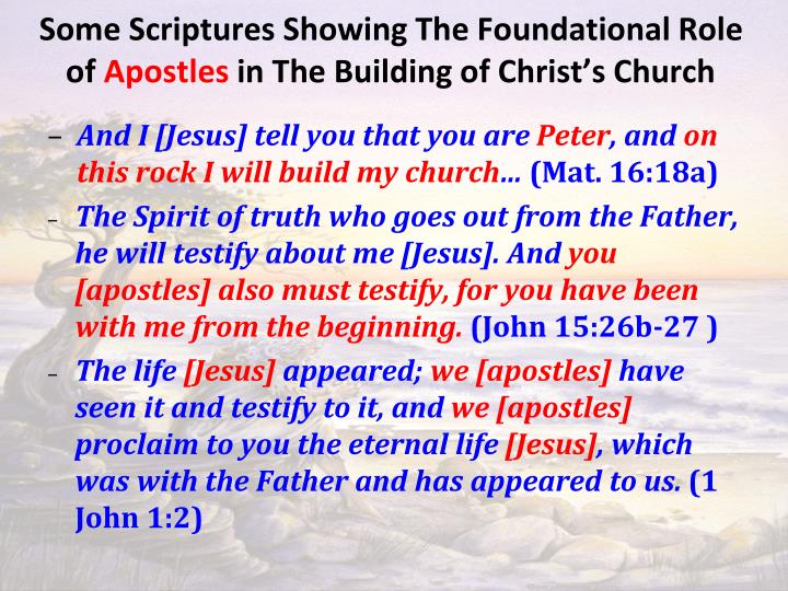 Some Scriptures Showing The Foundational Role of