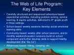 the web of life program key elements