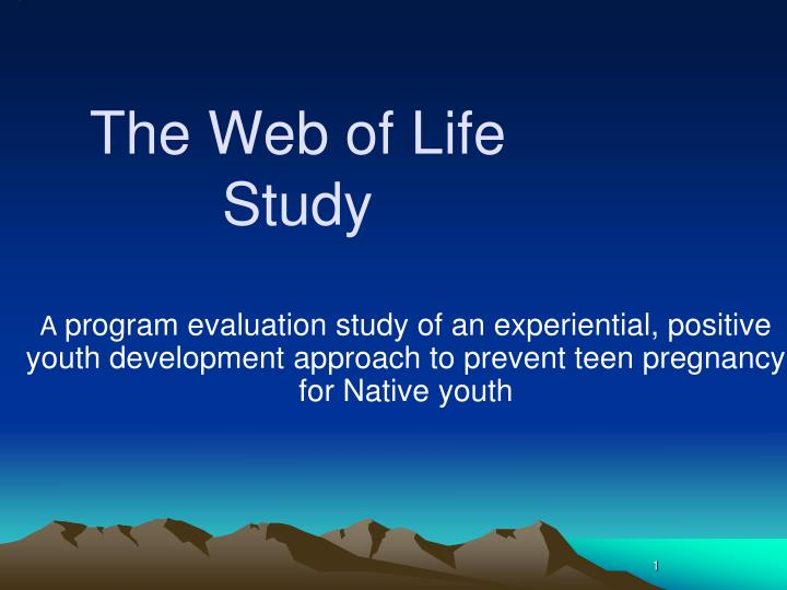 the web of life study