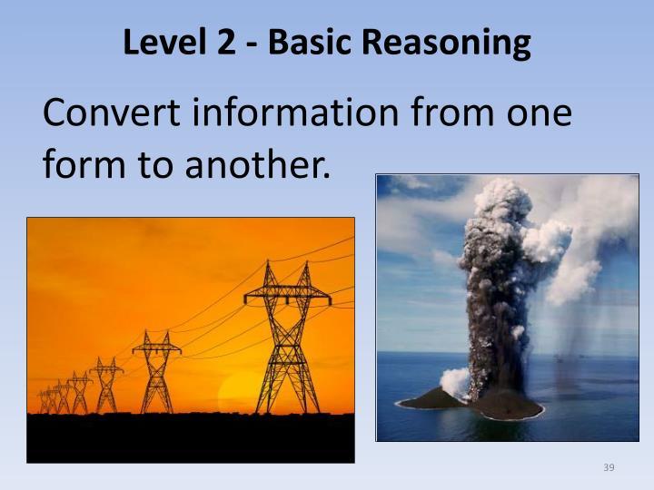 Level 2 - Basic Reasoning