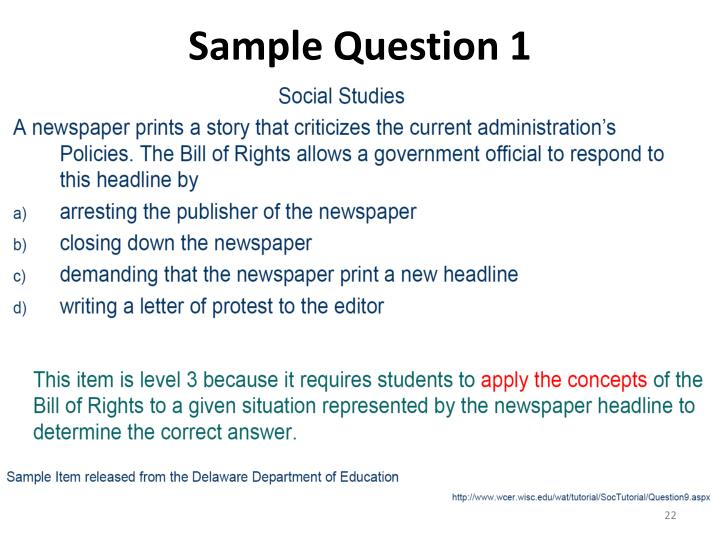 Sample Question 1