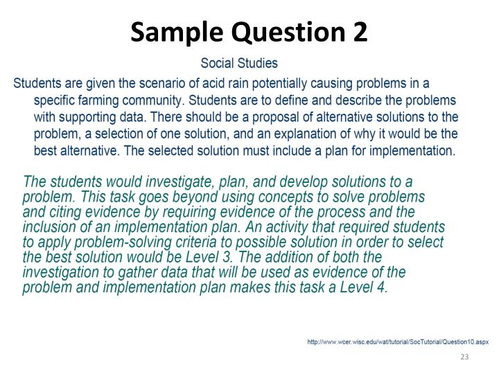 Sample Question 2