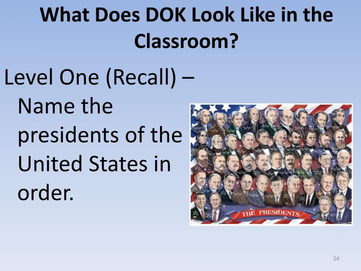 What Does DOK Look Like in the Classroom?