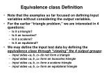 equivalence class definition