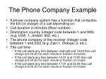 the phone company example