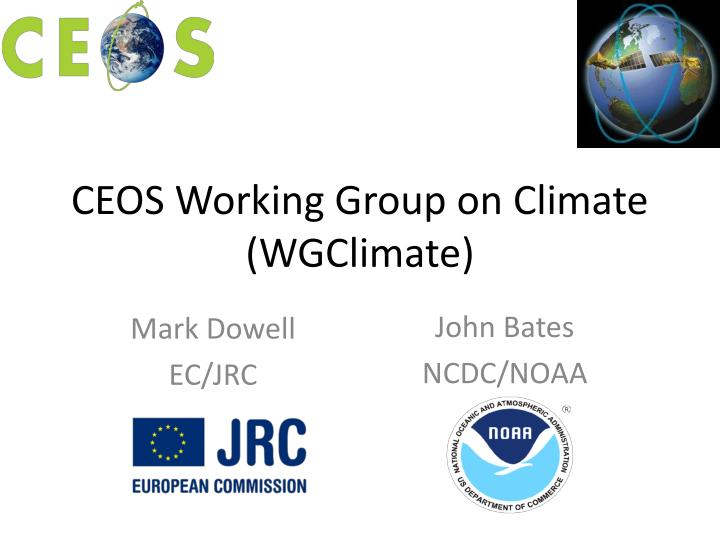 ceos working group on climate wgclimate n.