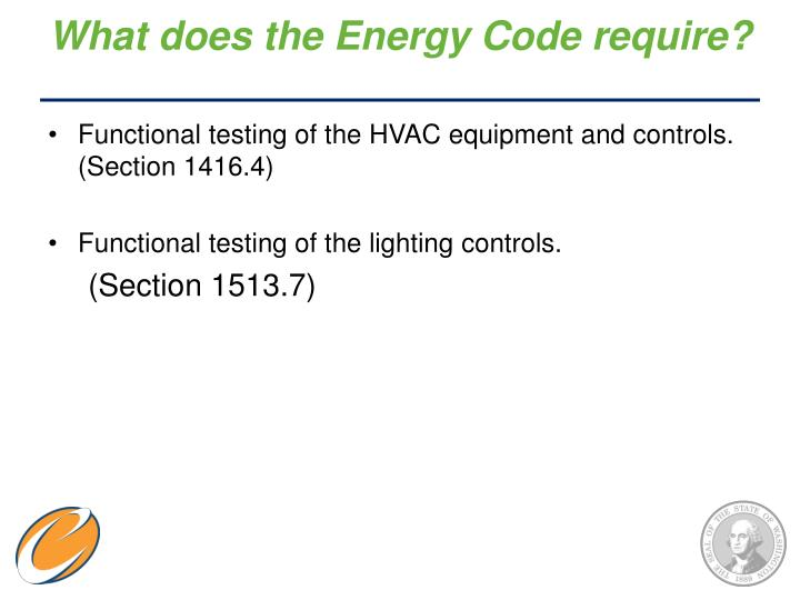 What does the Energy Code require?