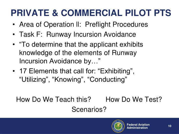 PRIVATE & COMMERCIAL PILOT PTS