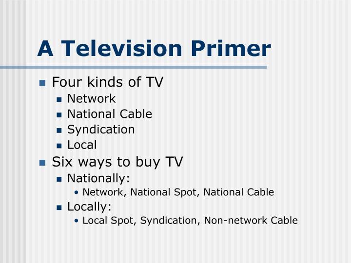 A Television Primer