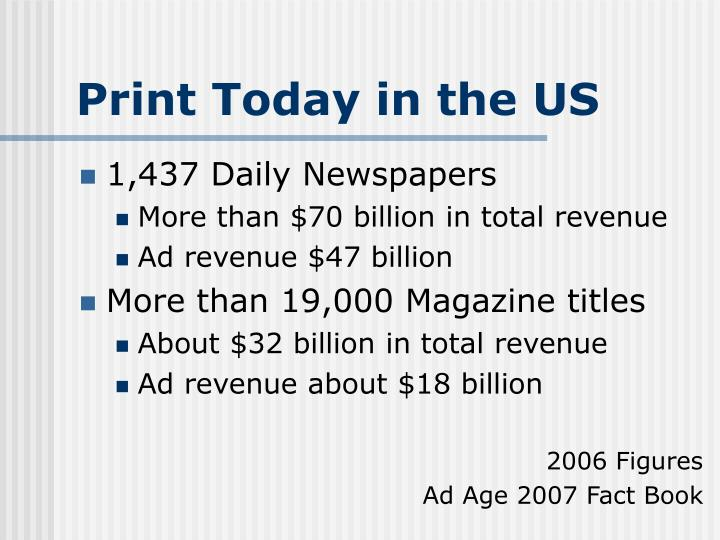 Print Today in the US