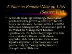a note on remote wake on lan source intel