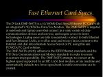 fast ethernet card specs