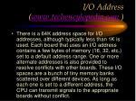 i o address www techencylopedia com