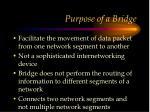 purpose of a bridge