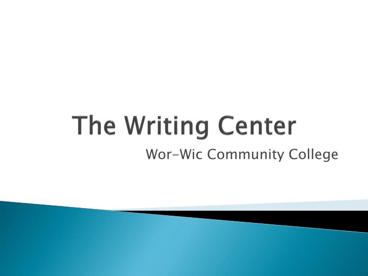 the writing center n.
