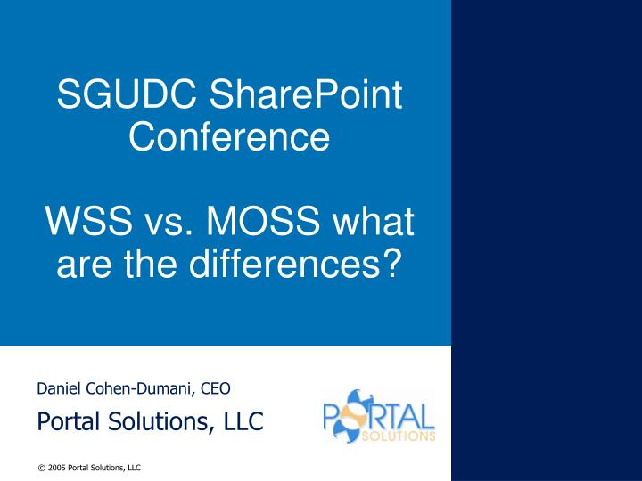 sgudc sharepoint conference wss vs moss what are the differences n.