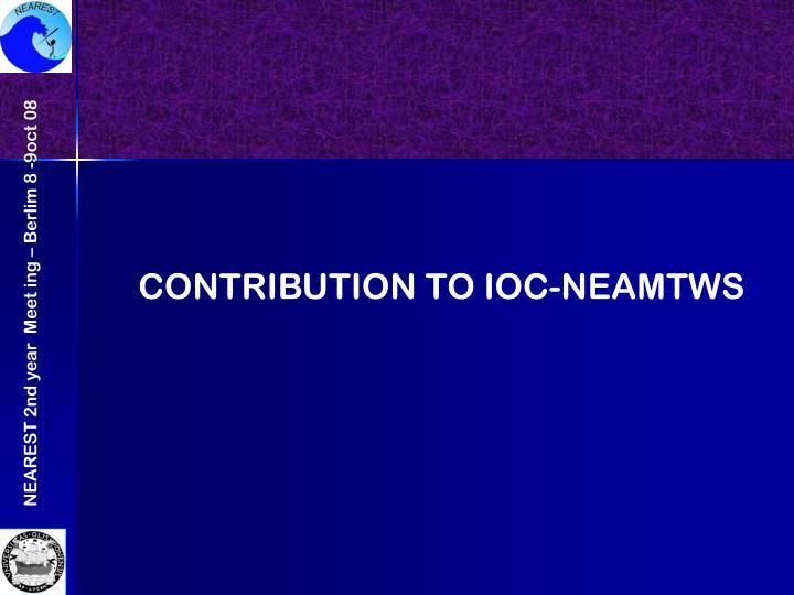 CONTRIBUTION TO IOC-NEAMTWS