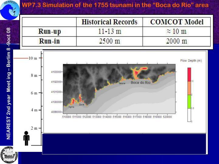 """WP7.3 Simulation of the 1755 tsunami in the """"Boca do Rio"""" area"""