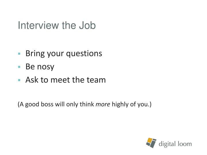 Interview the Job