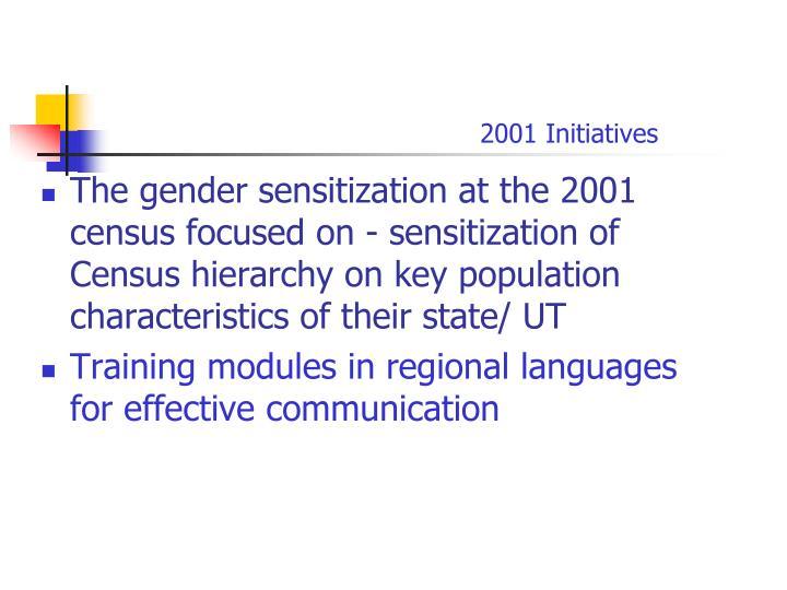 2001 Initiatives