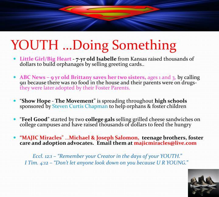 YOUTH …Doing Something