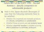 article iii 2 of the gatt 1994 second sentence directly competitive or substitutable products1