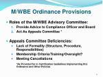 m wbe ordinance provisions2
