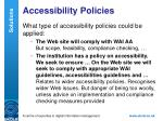 accessibility policies