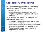 accessibility procedures