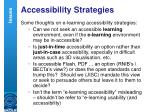 accessibility strategies