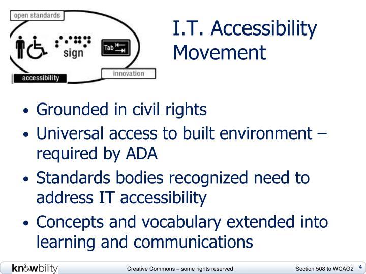 I.T. Accessibility Movement