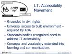 i t accessibility movement
