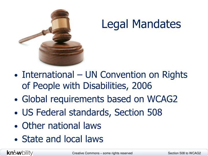 Legal Mandates