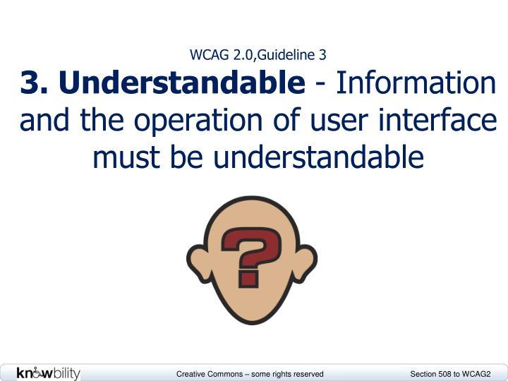WCAG 2.0,Guideline 3