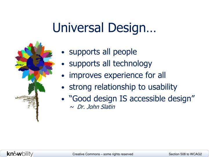 Universal Design…