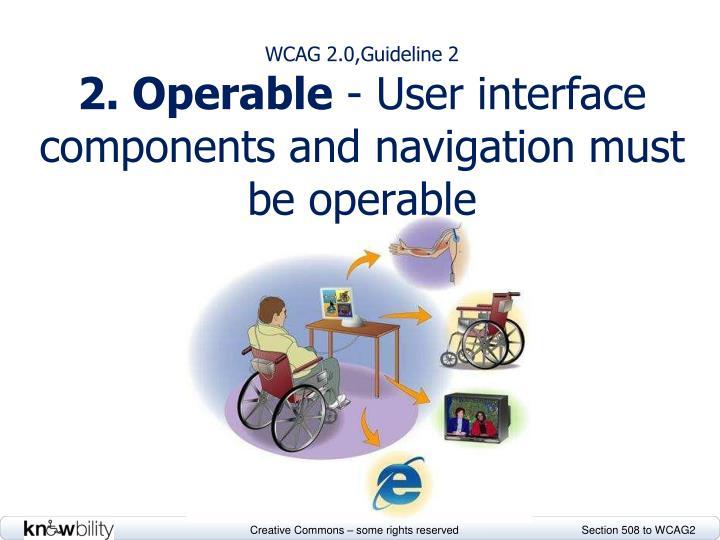 WCAG 2.0,Guideline 2