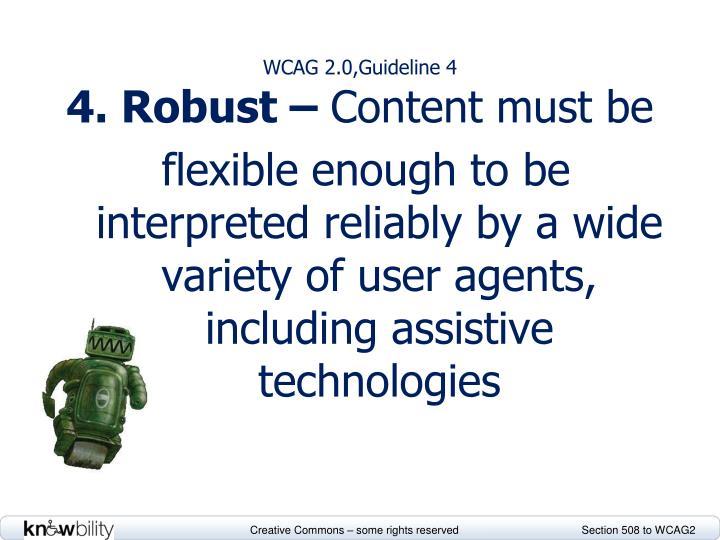 WCAG 2.0,Guideline 4