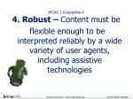 wcag 2 0 guideline 4 4 robust content must be
