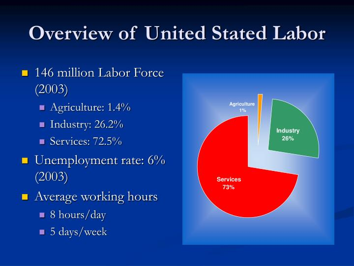 Overview of United Stated Labor