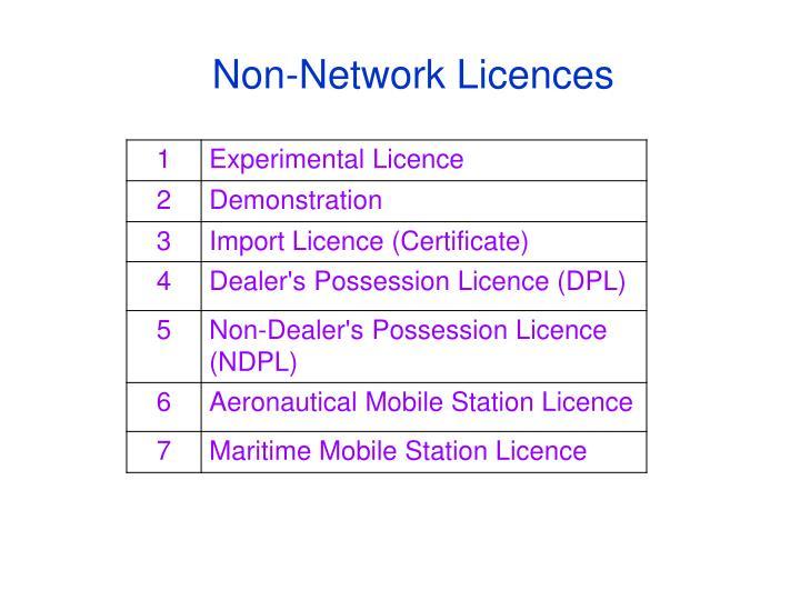 Non-Network Licences