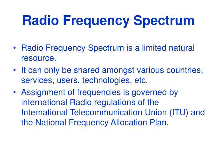 Radio frequency spectrum1