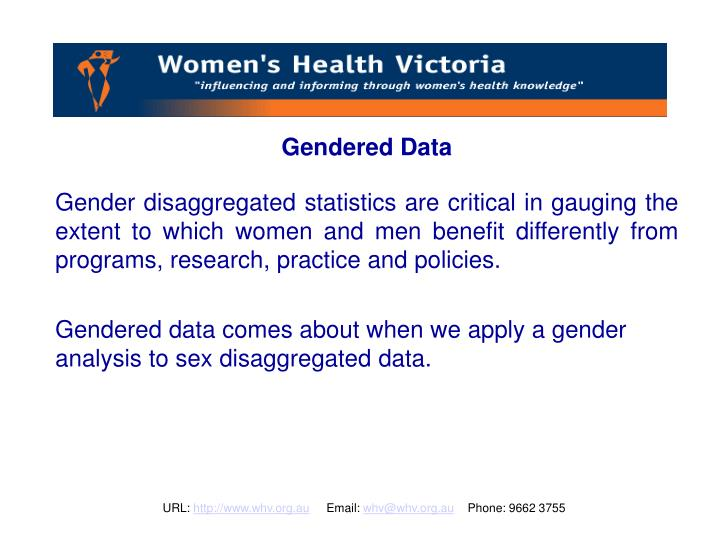 Gendered Data