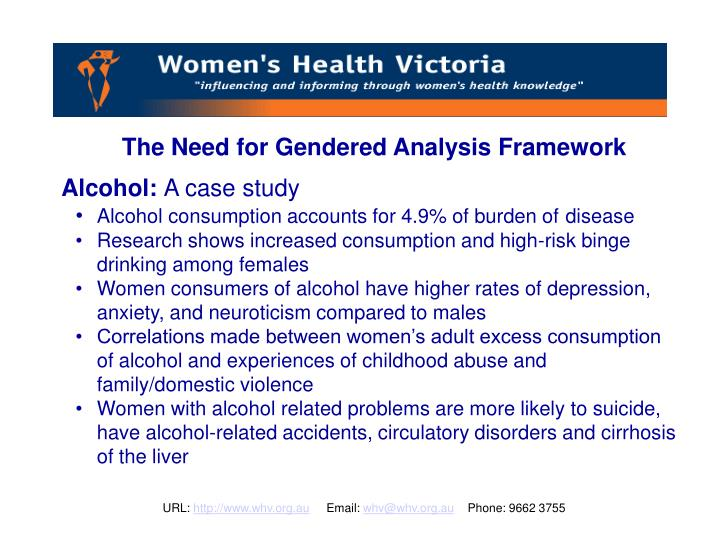 The Need for Gendered Analysis Framework