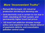 more inconvenient truths
