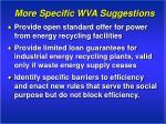 more specific wva suggestions