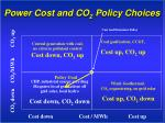 power cost and co 2 policy choices