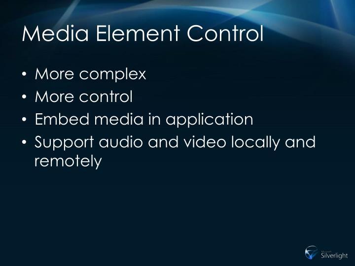 Media Element Control